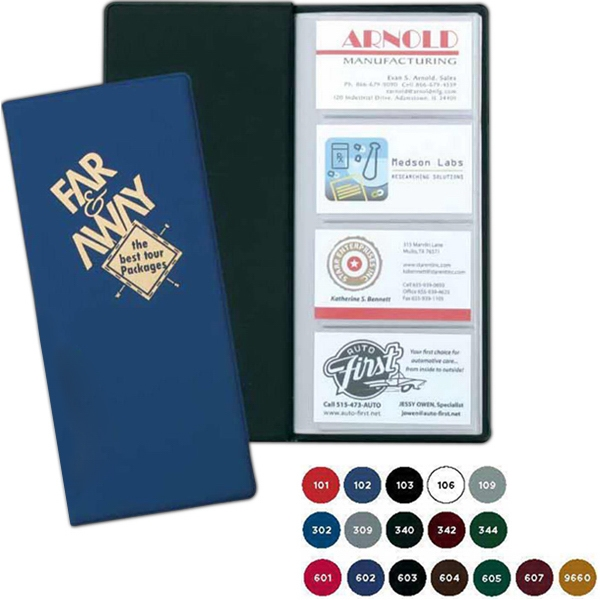 Business Card Case With Easily Store Up To 96 Cards In Frosty, Viewable Pockets Photo