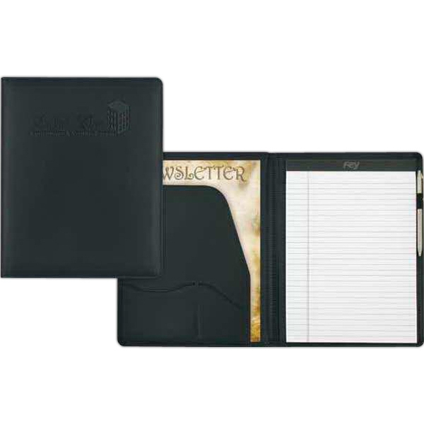 "Stratton - Black Desk Folder. 10"" X 12 1/2"" X 1/2"" Photo"