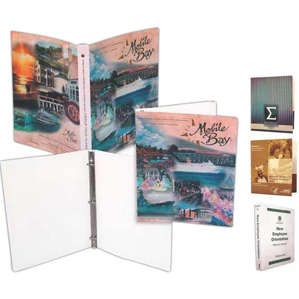 "Paperboard Binder With Full Color Graphics, 1""ring, With Pockets Photo"