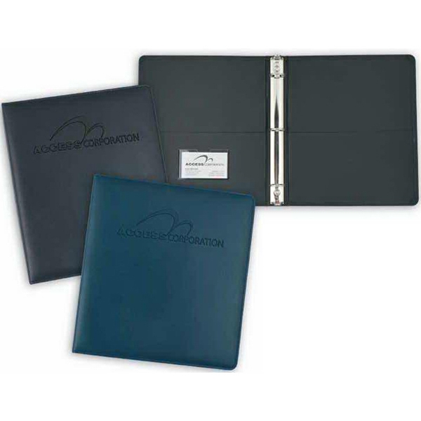 "Stratton - 1 1/2"" - Padded Ring Binder. Inside Front And Back Pockets For Additional Document Storage Photo"