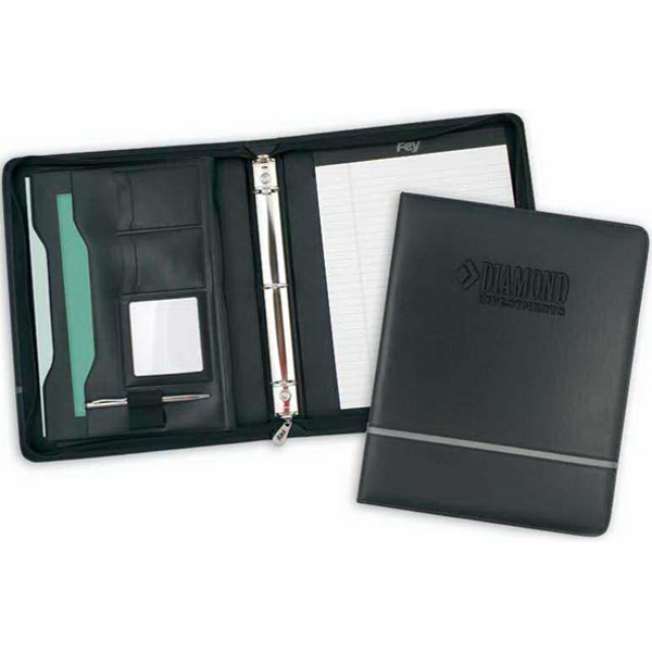 Chartwell - Vinyl Zippered Combination Desk Folder And Three-ring Binder Photo