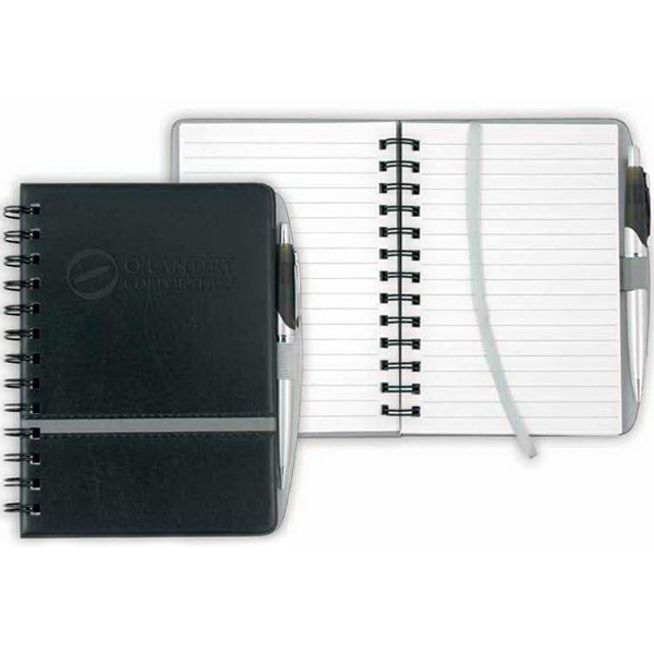 "Chartwell - Vinyl Journal. 160 Page White Ruled Note Pad. 6"" X 7 1/8"" X 1"" Photo"