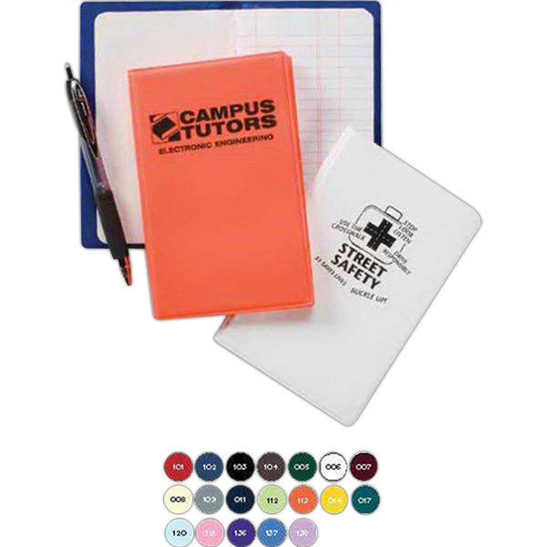 Junior Tally Book With Sewn Paper Pad Inserted Into Clear Pockets Photo