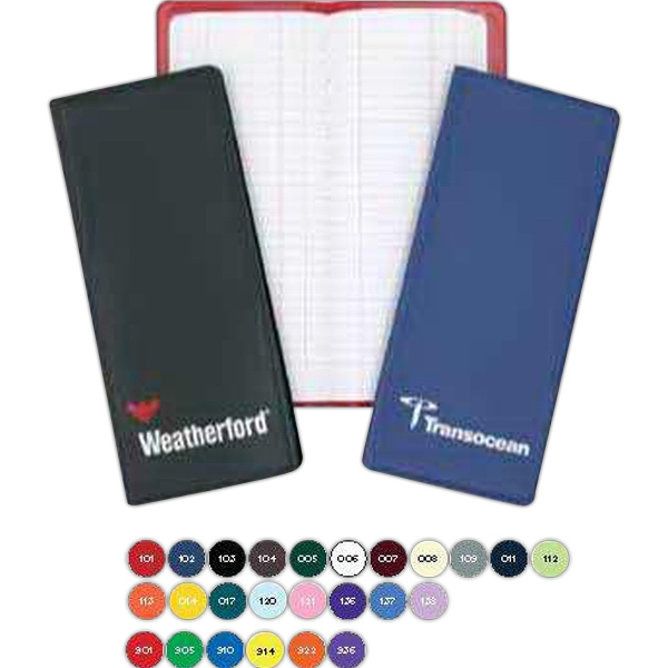 "Flexible Vinyl Tally Book. 8 5/6"" X 3 3/4"". 200 Pages Per Sewn Pad Photo"