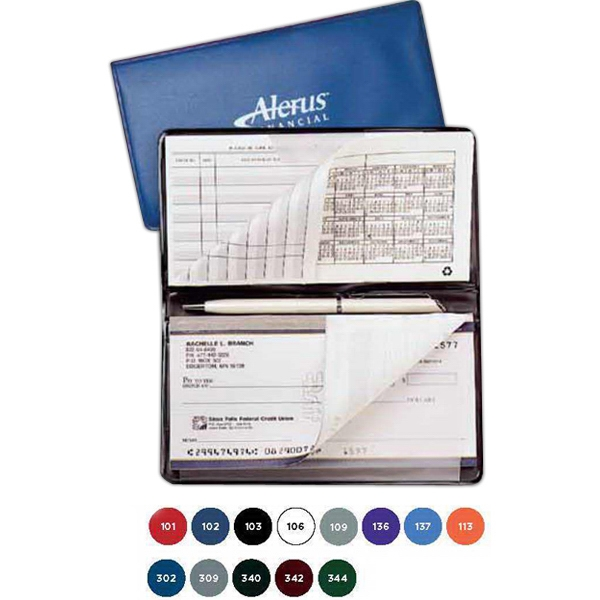 Checkbook Cover With Frosty Flap For Check Register And Duplicate Checks Photo