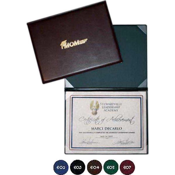 "Certificate/ Diploma Folder Holds 8 1/2"" X 11"" Insert Photo"