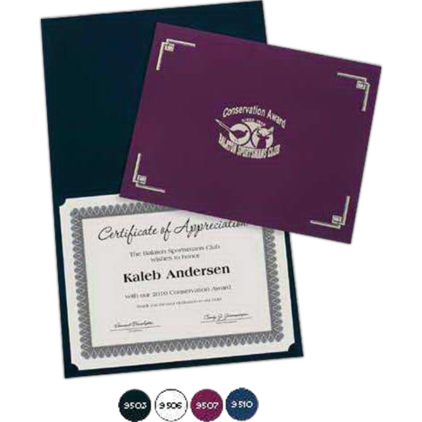 Certificate Folder With Classic Linen Package Photo