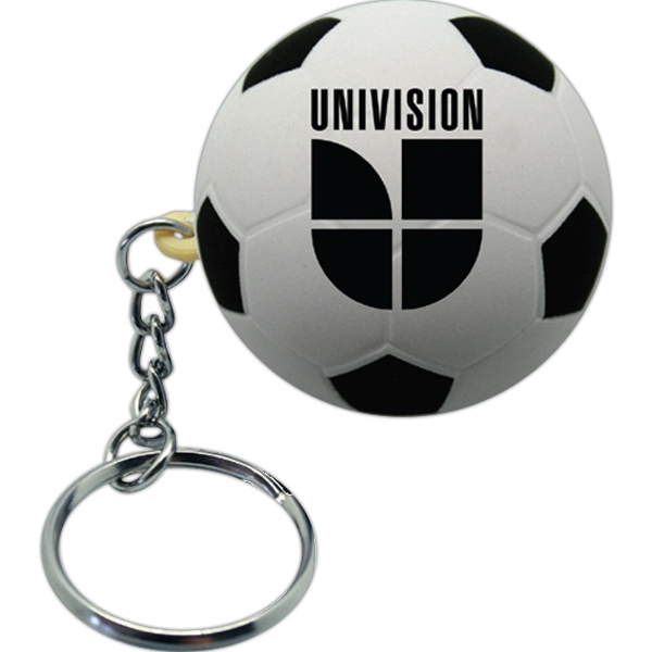 Squeezies (r) - Soccer Ball Stress Reliever With Key Holder Photo