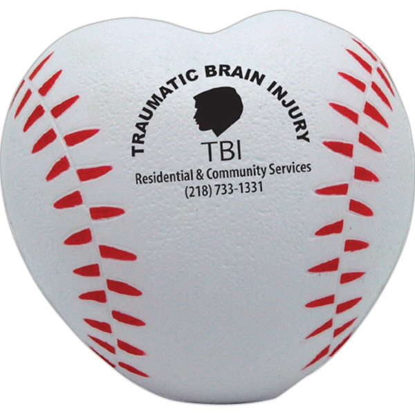 Squeezies (r) - Baseball Designed Heart Shaped Stress Reliever Photo