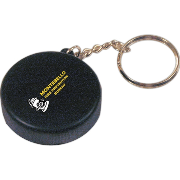 Squeezies (r) - Hockey Puck Shape Stress Reliever Key Holder Photo