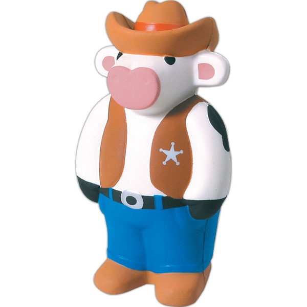 Squeezies (r) - Cowboy Cow Character Cow Shape Stress Reliever Photo