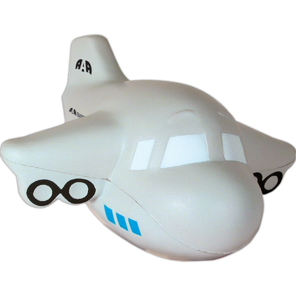 Squeezies (r) - Airplane Shaped Stress Reliever With No Smile Photo