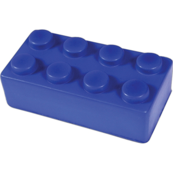 Squeezies (r) - Blue - Construction Block Shaped Stress Reliever Photo