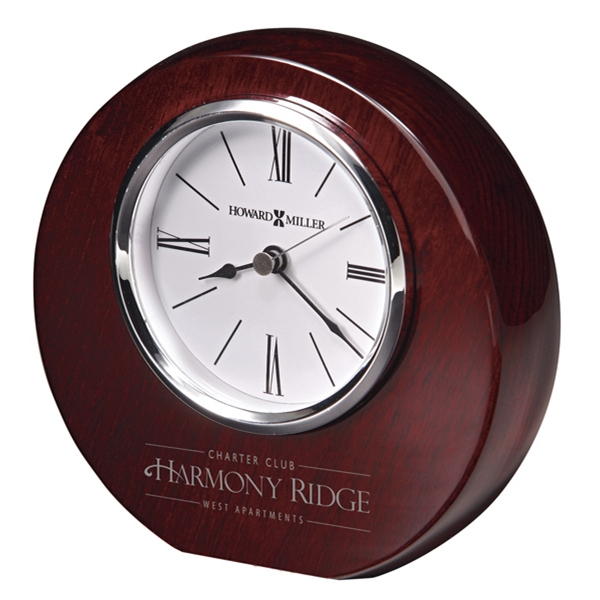 Adonis - High-gloss, Rosewood Hall Finished Clock With White Dial Photo
