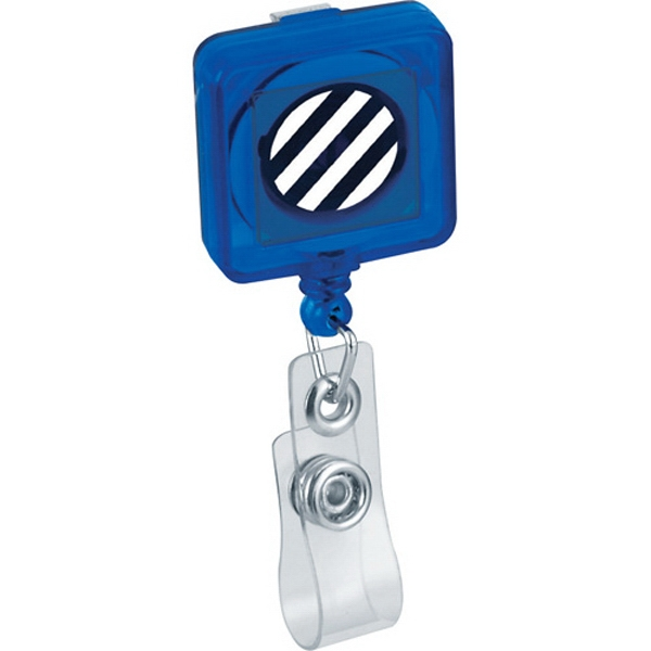 Square Retractable Badge Holder With Belt Clip Photo