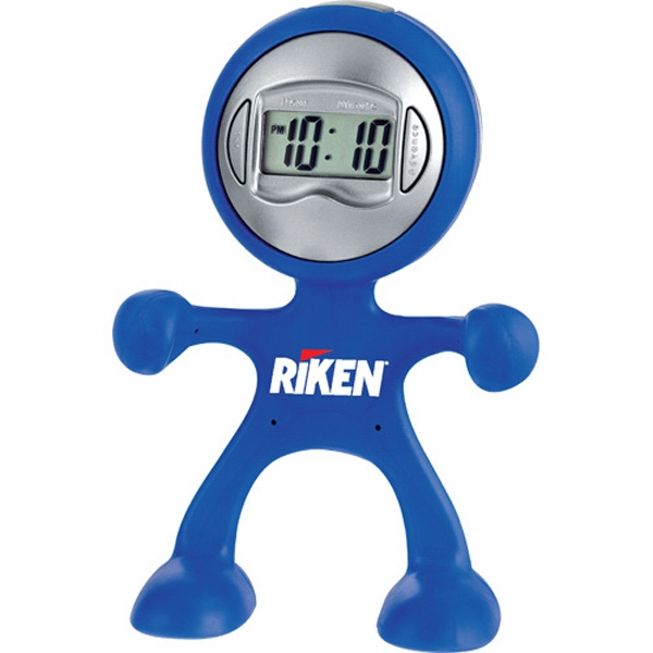 The Flex Man - Digital Alarm Clock. Displays Time, Date And Seconds Photo