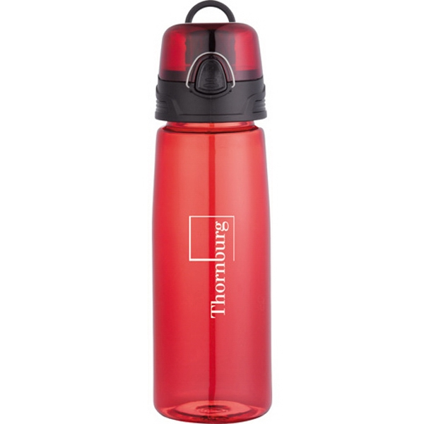 Capri (tm) - 25 Oz. Sports Bottle With Press-button, Flip-open Drinking Lid With Spout Photo