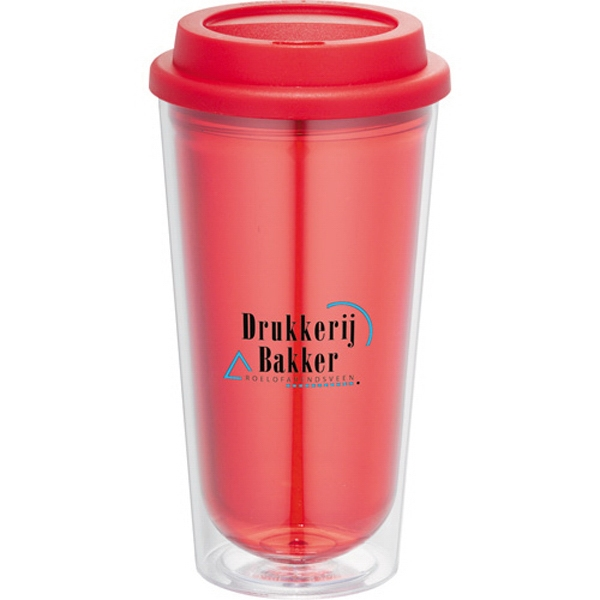 Kuta - 16 Oz. Double Wall Construction Tumbler. Bpa-free As Plastic With Polypropylene Lid Photo