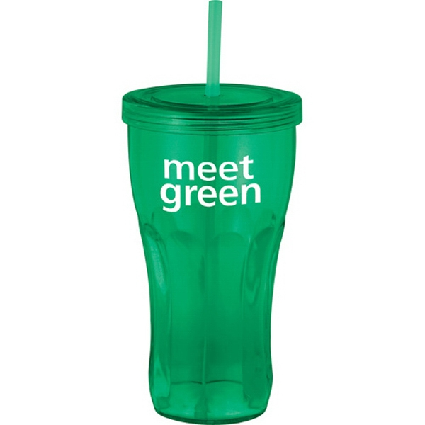 Fountain Soda - 24-oz Tumbler With Twist-on Lid Photo