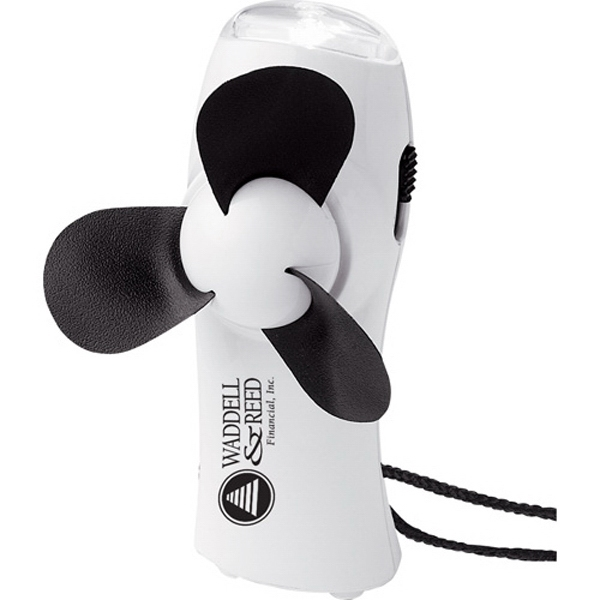 Turbo - Mini Fan/flashlight With Foam Blades And Break Away Lanyard Photo