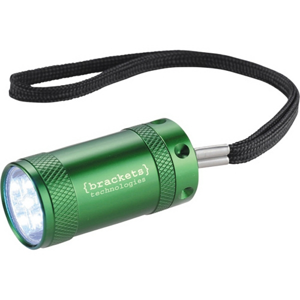 Comet - Aluminum Flashlight With 5 White Led Lights. Push-button On/off Power Photo