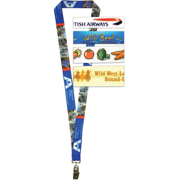 "1/2"" - Sublimated Printed Lanyard Photo"