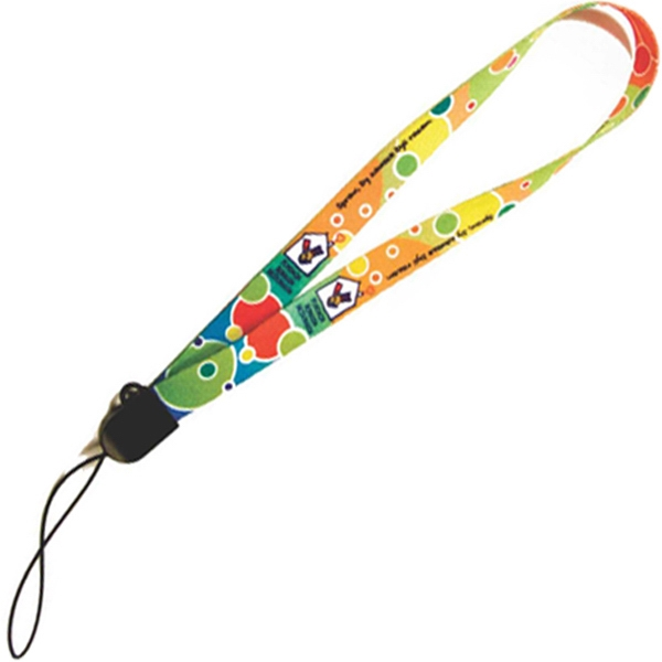 Smudge-away (tm) - Custom Wrist Sublimated Lanyard With Plastic Button To Adjust To Size And Lock On Photo