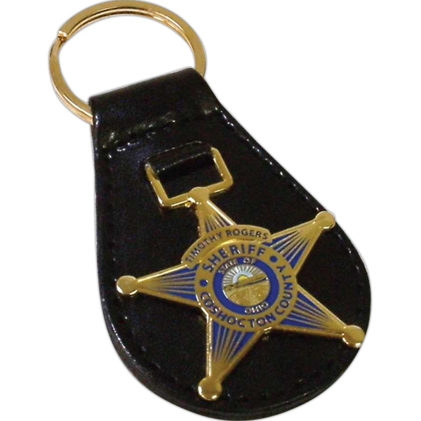 Embossed Leather Key Fob Photo