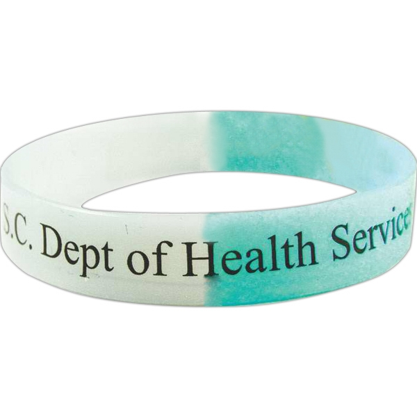 Deboss - Uv Silicone Rubber Wristband That Changes Color In The Sun Photo