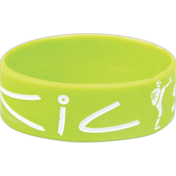 "The Big Boy - Silicone Rubber Color Filled Wristband, 360 Design, 1"" Wide Photo"