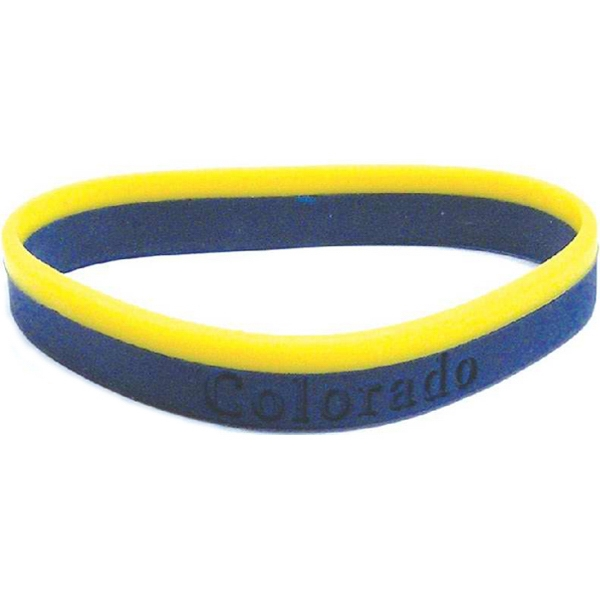 Silicone Rubber Colored Layer Wristband Photo
