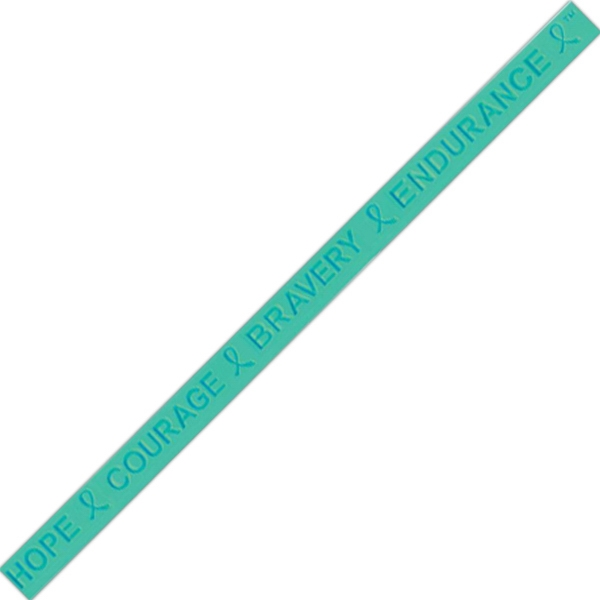 Ovarian Cancer, Polycystic Ovarian Syndrome And Tourette Syndrome - Hope Courage Bravery Endurance Wristband Photo