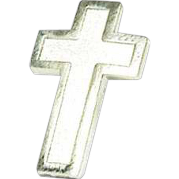 Silver Cross - Stock Lapel Pin Photo