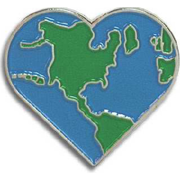 Earth Heart - Go Green Lapel Pin Photo