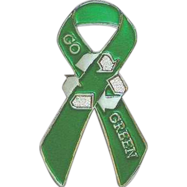 Ribbon - Go Green Lapel Pin Photo