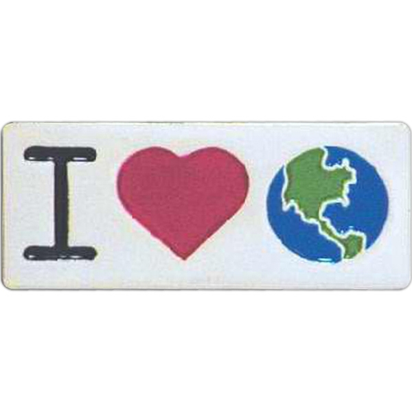 I Love Earth - Go Green Lapel Pin Photo