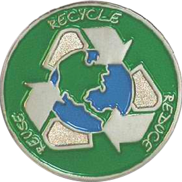 Reduce Reuse Recycle - Go Green Lapel Pin Photo