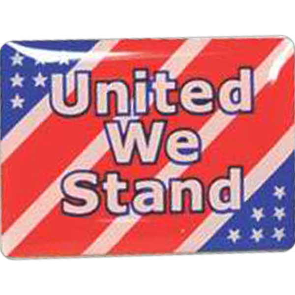 United We Stand - Patriotic Stock Lapel Pin Photo