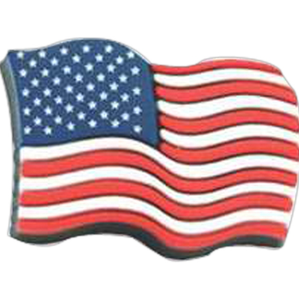 American Flag - Patriotic Stock Lapel Pin Photo