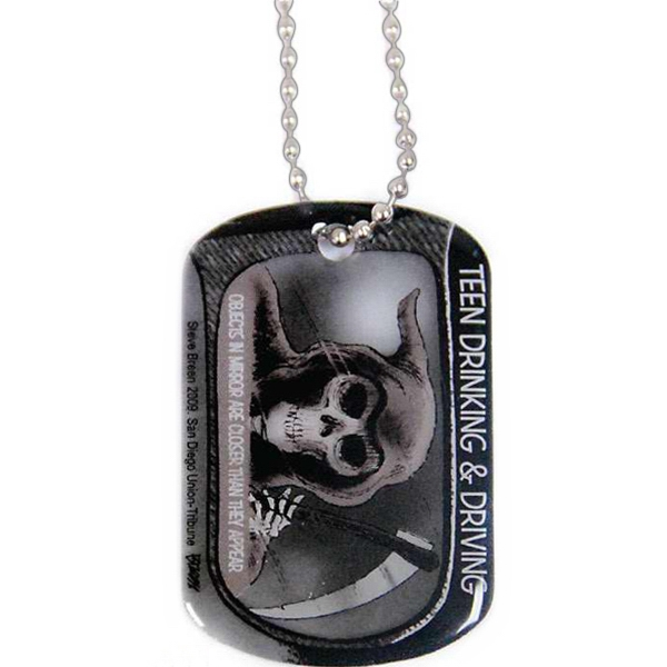 "Printed Aluminum Dog Tag With 24"" Ball Chain Photo"
