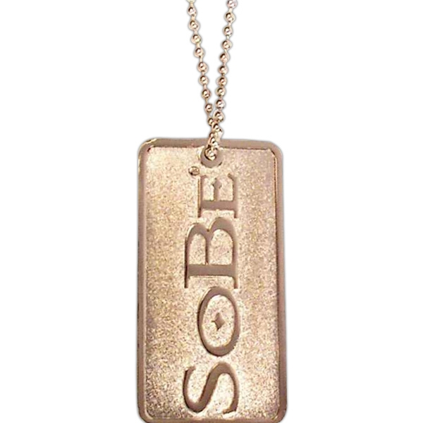 "Two Sides - Die Struck Iron With Soft Enamel Dog Tag With 24"" Ball Chain Photo"
