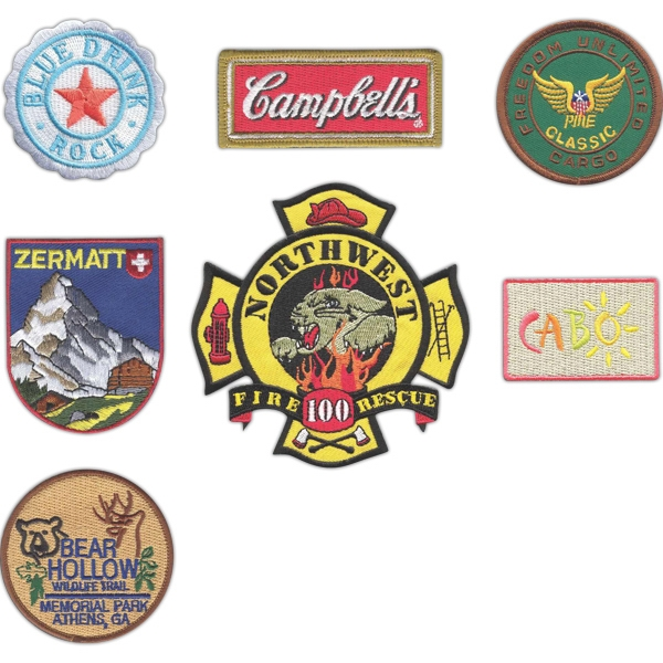 "3"" - Embroidered Patches Up To 50% Thread Coverage Attach To Apparel, Bags And Hats Photo"