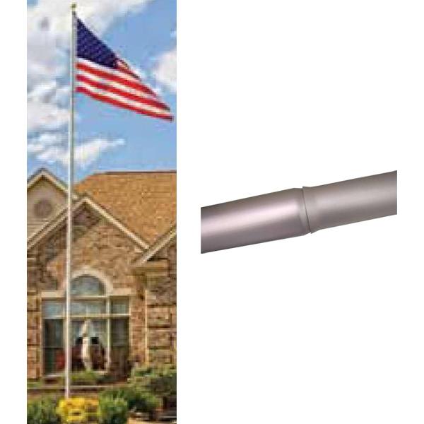 20' Tapered Homesteader Flagpole Complete Set