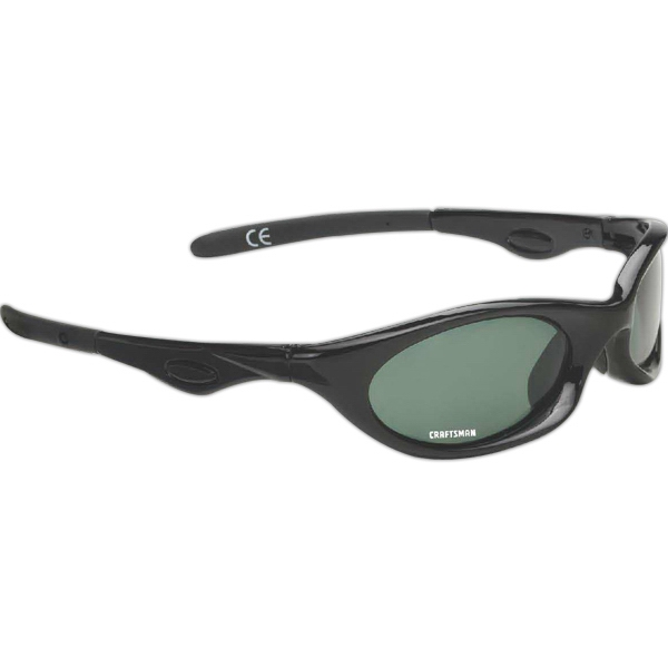 Vision Wrap - Wraparound Sport Sunglasses With Black Frames And Gray Lenses Photo