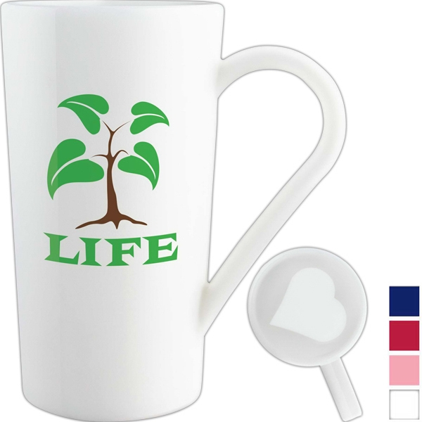 Nature Ad (tm) Corn Mug (tm) - Mug 17 Oz Capacity Featuring An Invisible Heart Photo
