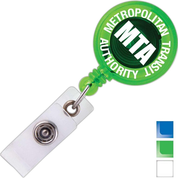 Round - Retractable Badge Holder Photo