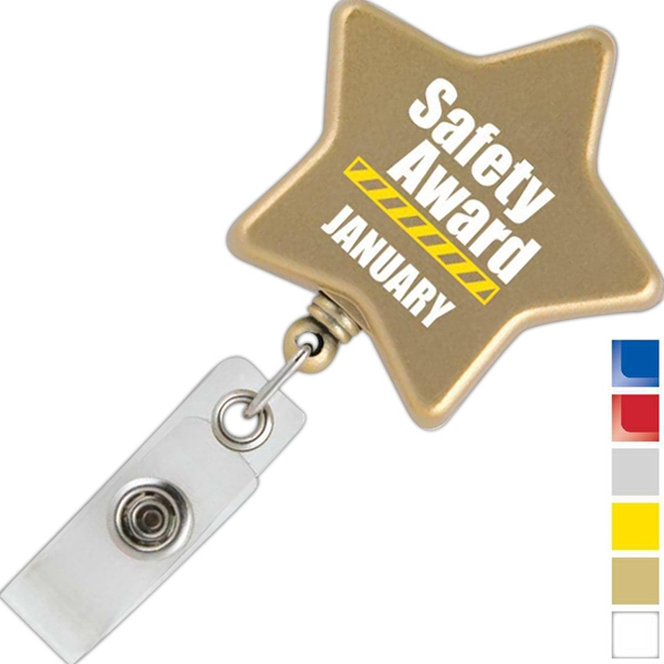Star Retractable Badge Holder Photo