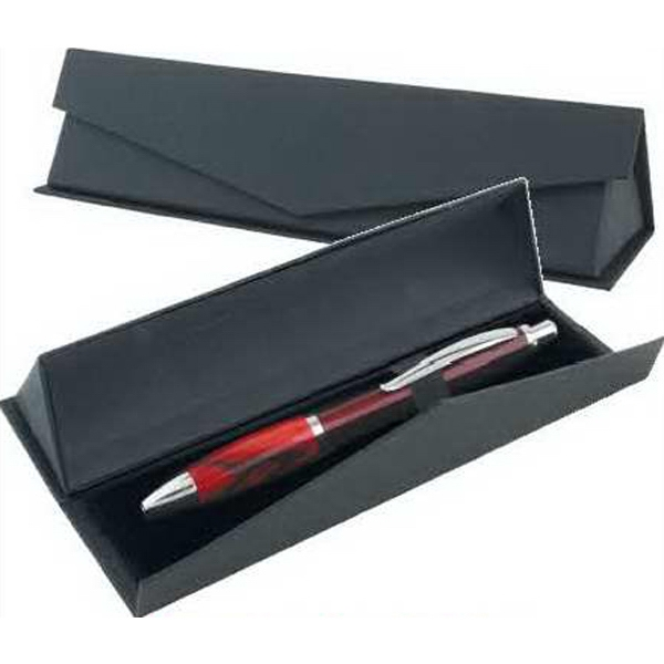 Blank Elegant Black Magnetic Triangular Presentation Pen Gift Box Photo
