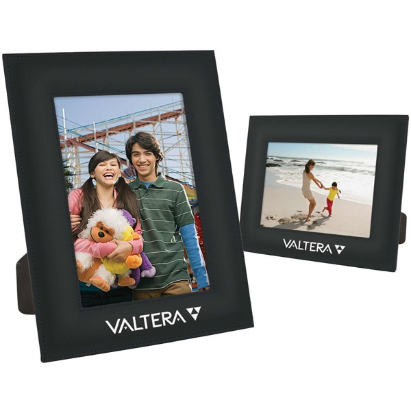 "Executive - 5"" X 7"" Black Frame With Glass Insert And Leatherette Design Photo"