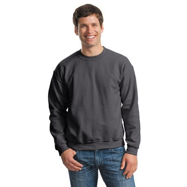 Gildan (r) Heavy Blend (tm) - S -  X L White - Crewneck Sweatshirt, 8-ounce, 50/50 Cotton/poly No Pill Air Jet Yarn Photo